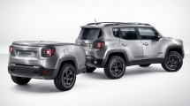 The Jeep Renegade Hard Steel concept has a unique brushed-steel paint finish.