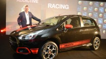 Fiat Chrysler Automobiles president and managing director Kevin Flynn following the launch of the Fiat Abarth Punto.