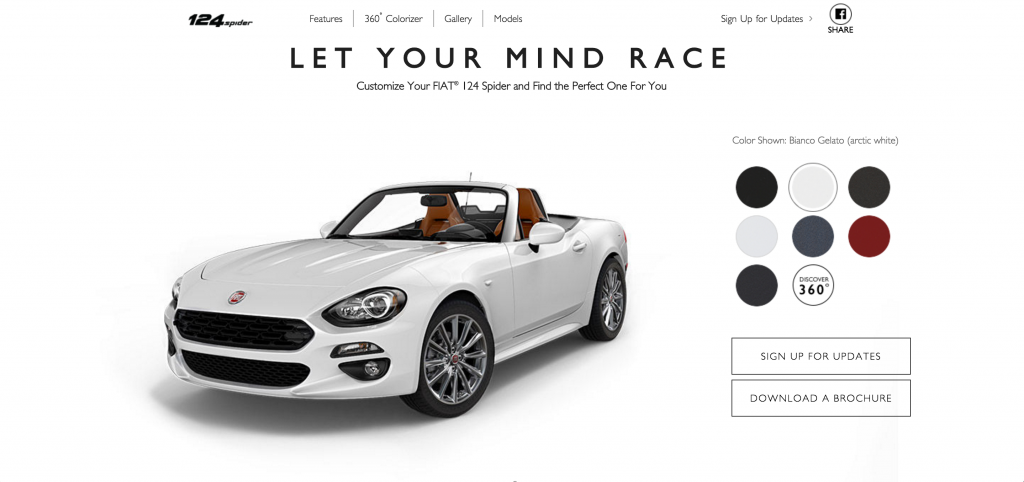 Personalize Your Own 124 Spider And Giulia With New Online