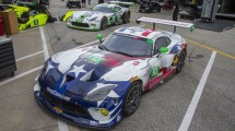A pair of Dodge Viper GT3-R race cars competes in the Rolex 24 at Daytona this weekend, fielded by private owner Ben Keating.