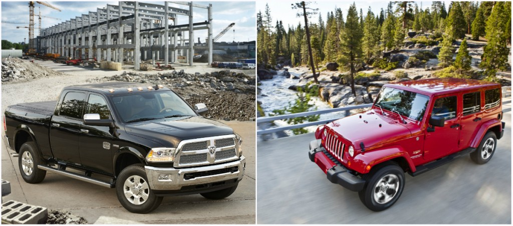 2016 Ram 2500 and Jeep Wrangler Unlimited