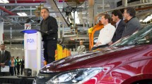 FCA CEO Sergio Marchionne speaks to employees at the FCA Windsor Assembly Plant celebrating the launch of the all-new 2017 Chrysler Pacifica in Windsor, Ont. Canada on May 6, 2016. Marchionne was joined by plant management and Unfior officials during the event.