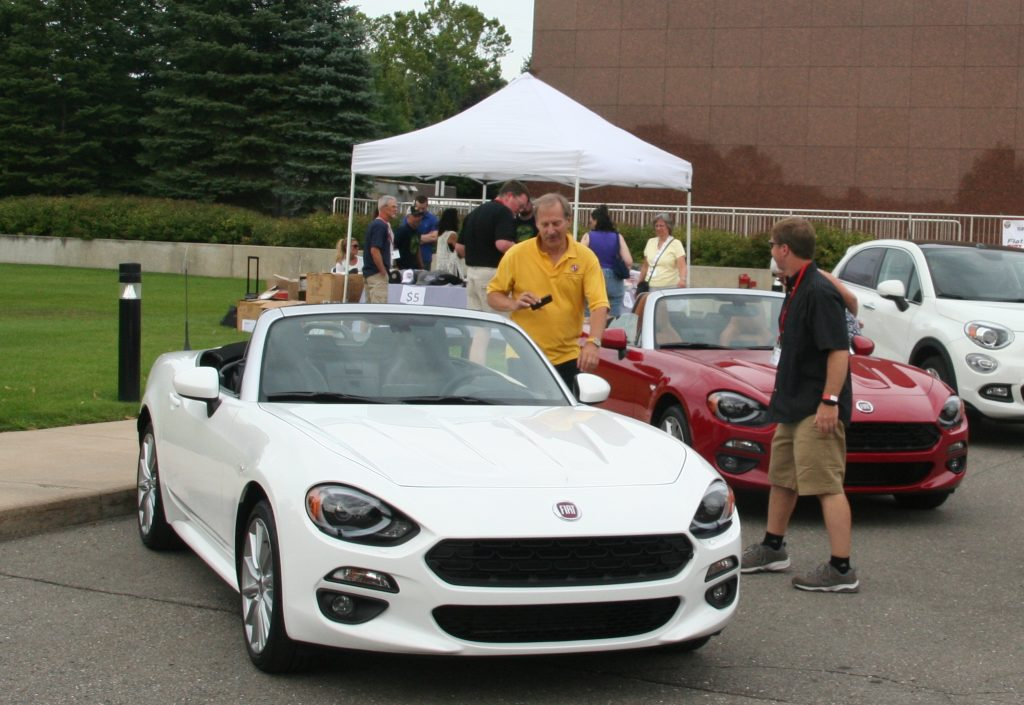 The new Fiat 124 Spiders attracted admirers at the Fiat FreakOut.