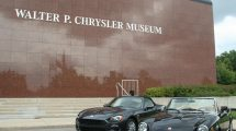 Generations of Fiats were on display at the Walter P. Chrysler Museum.