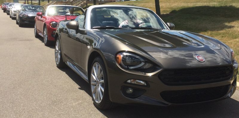 New Fiat 124 Spiders were available for test drives by FCA US employees.