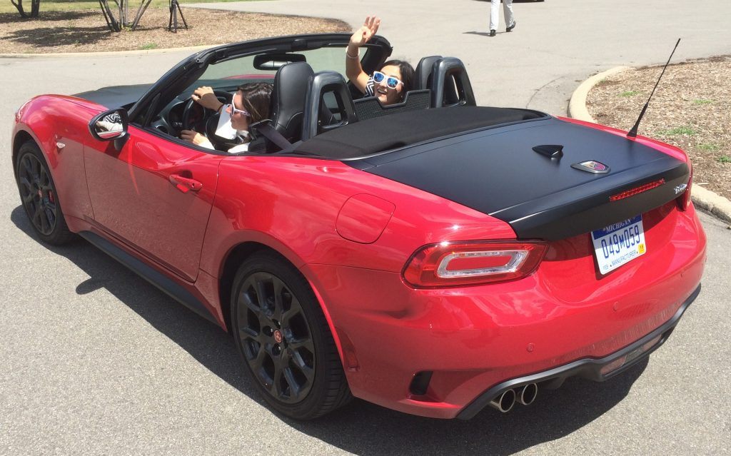 Employees at FCA US headquarters recently took the new Fiat 124 Spider for a spin.