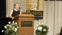 """It is humbling. There are so many Purdue mechanical engineering graduates that have done great things that to be considered among those individuals is surprising,"" Christine Barman says."