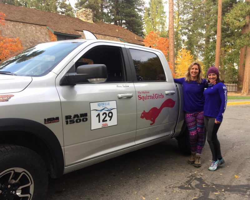 Rebelle Rally teammates Nena Barlow and Kande Jacobsen ready to roll in their 2016 Ram 1500 Rebel.