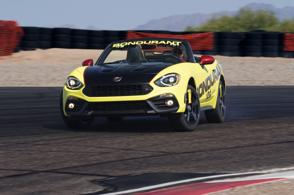 FIAT brand's Abarth models, including the all-new 124joins the lineup at the Bob Bondurant School of High Performance Driving.