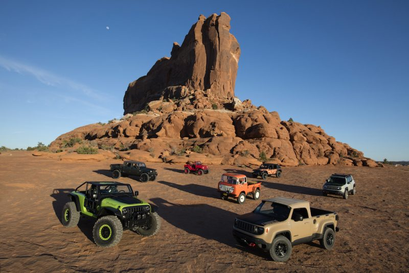 2016 Moab Easter Jeep® Safari Concepts (from Left To Right): Jeep®