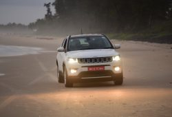 Jeep Compass debuts with India media at the Arossim Beach, on the West coast of India.