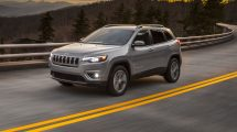 The restyled 2019 Jeep Cherokee makes its debut at the 2018 North American International Auto Show in Detroit.