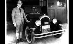 Walter P. Chrysler and the 1924 Chrysler Six.
