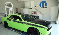 Michael Parent reworked his 2015 Sublime Green Dodge Challenger Scat Pack to mimic the look of the Challenger T/A concept car.